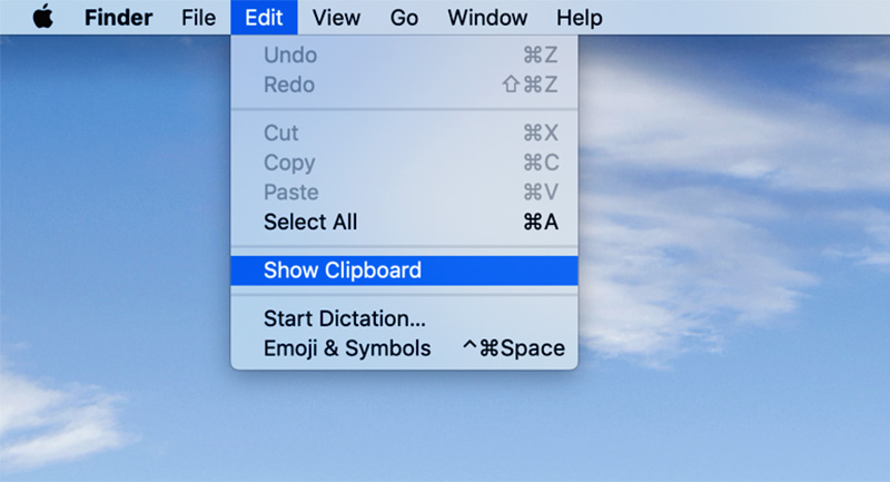 Where is your clipboard on Mac