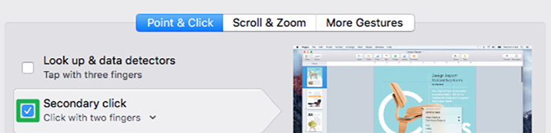 Assign the bottom right OR left corner of the click pad as a right-click