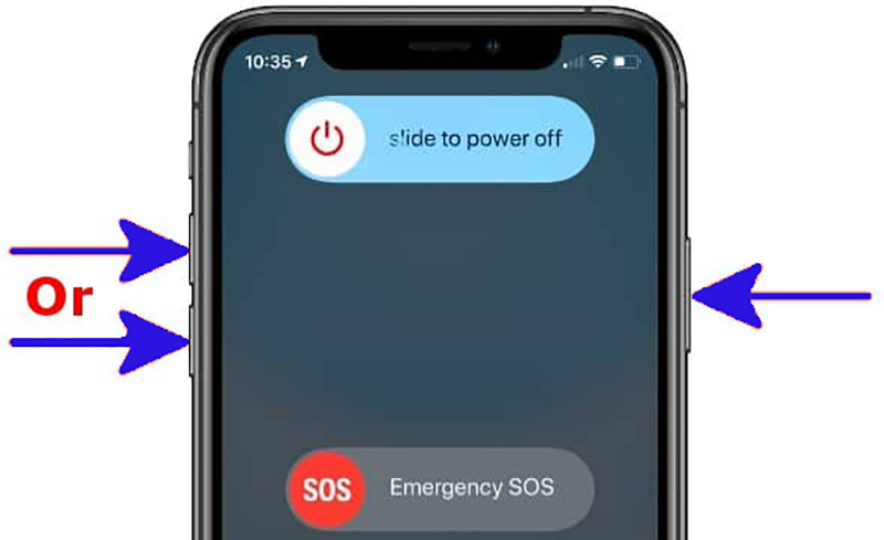 How can you turn off iPhone 11 by using button sequence