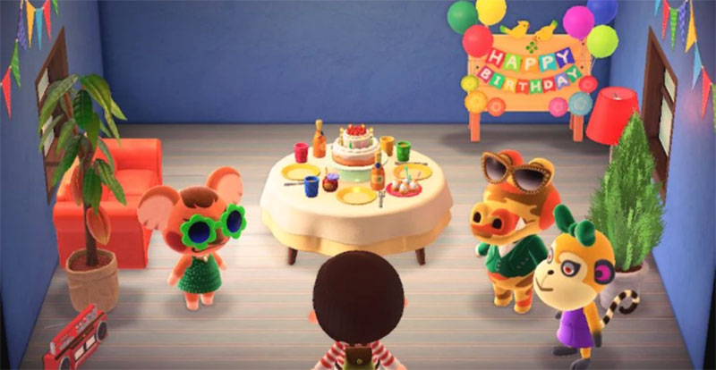 animal crossing birthday cupcake