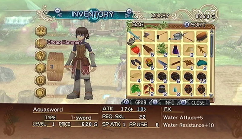 Rune factory 5: leveling system
