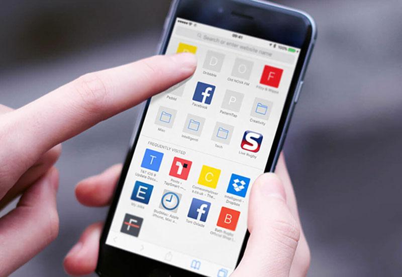 bookmark on iphone
