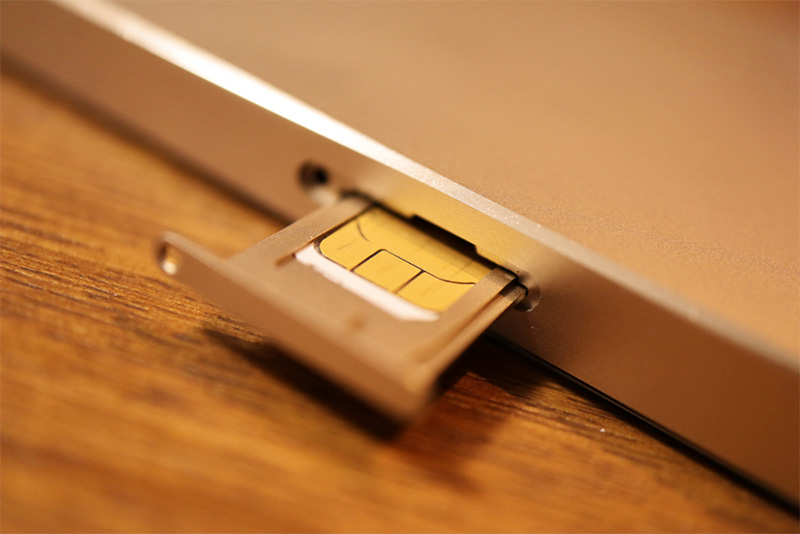 Find where your SIM tray is found on your iPhone or iPad model